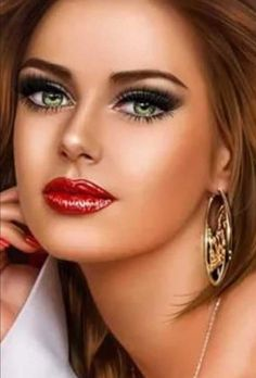 Cartoon Girl Images, Girl Cartoon Characters, Painting Of Girl, Painting People, Beauty Art, Beauty Women, Lips Cartoon, Pop Art Lips, Beautiful Gif