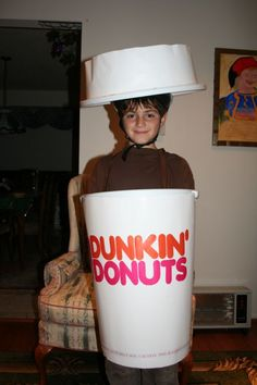 Dunkin Donuts cup  sc 1 st  Pinterest & My Dunkinu0027 Donuts Coffee Cup costume I made for 2010. :) | Halloween ...