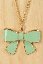 Daisy Bow Necklace