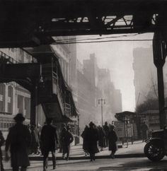 E. O. Hoppé. 6th Avenue at 42nd Street, New York City, 1921