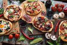 31 recetas de pizza: una pizza para cada día del mes Pizza Express, Pizza Al Pesto, Olives, Pizza Legume, Pizza Sandwich, Empanadas, Bruschetta, Deli, Vegetable Pizza