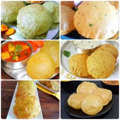 Poori Recipes or puri recipes is the well known breakfast dishes in which enjoyed in all the region of India. Puri Recipes, Indian Food Recipes, Ethnic Recipes, Food Articles, Travel Articles, Desi Food, Recipe Collections, Homemade Breads, Indian Dishes