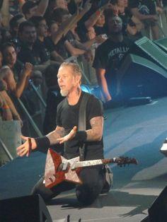 James Hetfield of Metallica at JPJ Arena in Charlottesville, VA 2010