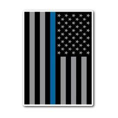 USA Police Flag Sticker