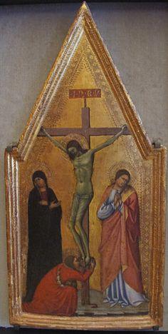 Scuola senese - Crocifissione - 1350-1400 ca - Lindenau-Museum, Altenburg