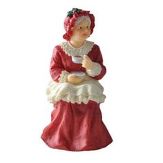 Out of the Ordinary Mrs. Claus, sitting - Hand painted resin doll is non-posable and has no removable pieces. Dollhouse Family, Dollhouse Dolls, Dollhouse Miniatures, Doll House People, Sitting Girl, How To Dress A Bed, Santa Doll, Mrs Claus, Holiday Pictures