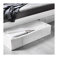 IKEA - SKUBB, Tasche, schwarz, , Die Tasche passt unter das Bett und eignet sich für Kissen, Decken usw.Schützt Kleidung, Decken, Bettwäsche usw. vor Staub.Dank des Griffs einfach herauszuziehen und zu verschieben.Netzgewebe an den Seiten lässt Luft zirkulieren; so bleiben Textilien in der Tasche frisch und gepflegt.Kann bei Nichtgebrauch Platz sparend zusammengefaltet werden. Einfach den Klettverschluss trennen.