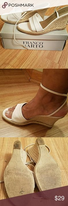 Wedge Sandals Used White Wedge Sandals. Perfect summer shoe Franco Sarto Shoes Wedges