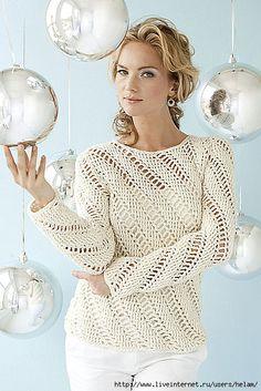 Un altro maglione lavoratocon un punto diverso all'uncinetto con trafori in diagonale.  fonte:http://www.microsofttranslator.com/bv.aspx?from=&t