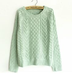 November 20 2013  Mint Green Sweater. Because you can never have too many sweaters.