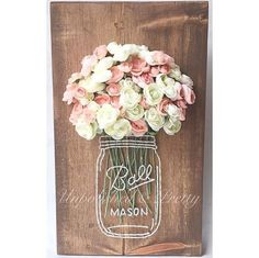 PLEASE READ FULL ITEM DESCRIPTION BEFORE PURCHASING. This unique mason jar string art is the perfect addition to your home! Sign measures