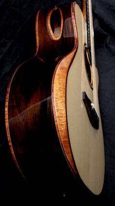 Everett Guitars - Hand Made Acoustic Guitars - Arm Bevels and Bridges