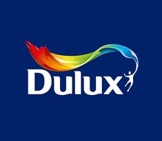 Dulux identity logo on blue v2