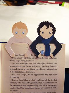 Sherlock & John Bookmark set. £4