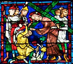 Chartres, La Pasión, detalle Medieval Stained Glass, Glass Art, Gothic, Crystals, Grisaille, Painting, Color, Stained Glass Windows, Christianity