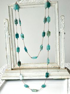 Glacier Pieces  Necklaces by CottonToMetal on Etsy, $95.00 >> Stunning!