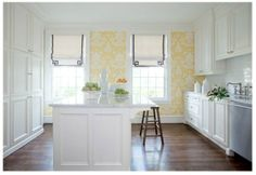 I like yellow and white for a kitchen