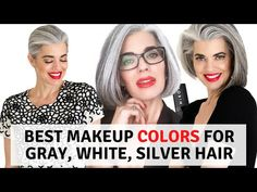 I hope you enjoy this video I wanted to give you a couple of options when it comes to brightening your face with makeup if you have Gray, Silver, or White ha. Grey Hair And Makeup, Silver Eye Makeup, Hair And Makeup Tips, Hair Makeup, Fox Makeup, Beauty Makeup, Eyeshadow For Brown Eyes, Best Eyeshadow, Makeup For Brown Eyes