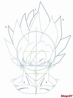30 Ideas drawing dragon ball step by step Goku Drawing, Ball Drawing, Manga Drawing, Dbz Drawings, Easy Drawings, Dragon Ball Gt, Dragon Art, Manga Dbz, Goku Face