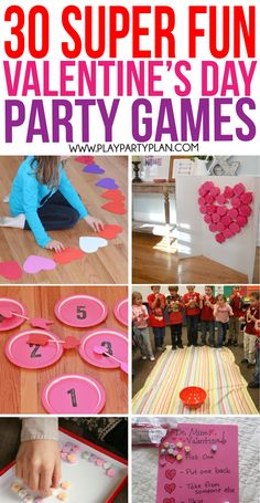 30 of the best Valen 30 of the best Valentines Day games including ones for kids for adults for teens and even specific for couples! These games are perfect for classroom parties for church or even for work parties! And even ones that use Hersheys kisses! Kinder Valentines, Valentines Bricolage, Valentine Crafts For Kids, Valentines Day Activities, My Funny Valentine, Valentines Day Party, Valentines Day Decorations, Kids Crafts, Party Crafts