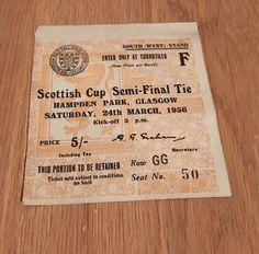SCOTTISH CUP SEMI FINAL CLYDE v GLASGOW CELTIC Football TICKET 24th March 1956 | eBay