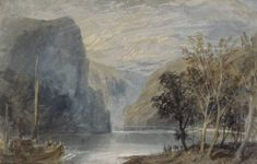 Joseph Mallord William Turner 'The Loreleiberg', 1817 - Watercolour and bodycolour on paper -  Dimensions Support: 202 x 312 mm -  © Leeds Museums and Galleries (City Art Gallery), UK/ courtesy Bridgeman Art Library