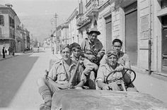 Italian Vintage Photographs ~ ~ A group of 28 (Maori) Battalion soldiers drive along a street in Sora, June Nz History, History Online, Military Photos, Military History, Italian Campaign, Maori People, Maori Designs, New Zealand Art, In Memory Of Dad