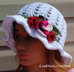 adult and toddler spring hat - free crochet pattern
