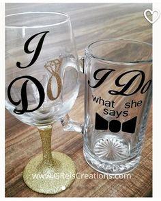 Looking for a wedding gift? These fun wine glass and beer mug set is perfect for the new newlyweds.  #greiscreations #etsyshop #customgifts #weddinggift #weddingday #mrandmrs #couplesgift #giftsforher #weddingplanners #badasswp #beermug #wineglass #bridalshower #bridalgift #newlyweds #newlywedsgifts #customweddinggift #customwedding http://gelinshop.com/ipost/1524753894592710670/?code=BUpA5axF4gO