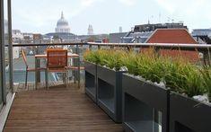 #bespoke #roof #terrace #planters #floating #design #powder #coated Mylandscapes Garden design, photo Amir Schlezinger