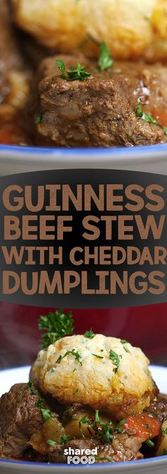 Cheese, beer and beef you say? Sign me up! Enjoy the ultimate comfort food this winter with Guinness beef stew topped with scrumptiously soft cheddar dumplings. This perfectly paired combination will warm you and your family from the inside out.