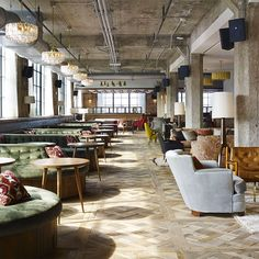 Soho House, a private club house and hotel, transforms an old belt factory  into their newest (and largest) property to date.