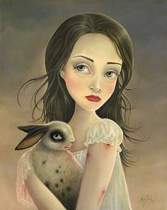 .an untitled painting from the rabbit-tales series by kelly haigh.