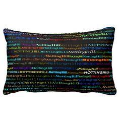 Notting Hill Text Design I Lumbar Pillow