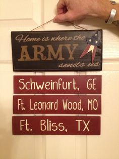 Home is where the Army sends us sign 6x12 by KimsKustomKreations1, $23.00