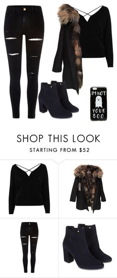 """Black Outfit"" by melisa-diana ❤ liked on Polyvore featuring River Island, Yves Salomon, Monsoon and ASOS"