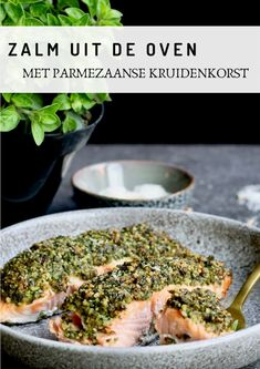 Salmon from the oven with parmesan herb crust - Beaufood - Salmon from the oven with parmesan spice, Healthy dinner, Salmon dinner, Beaufood recipes, Healthy - Pureed Food Recipes, Curry Recipes, Fish Recipes, Clean Eating Diet, Clean Eating Recipes, Vegetable Soup Healthy, Healthy Recepies, Salmon Dinner, Parmesan