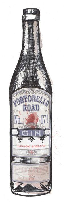 de Winton Paper co | Gin Bottle Watercolour Illustrations - de Winton Paper co