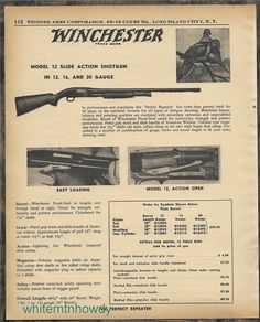 1957 WINCHESTER 12 Slide Action Shotgun PRINT AD : Other Collectibles at GunBroker.com