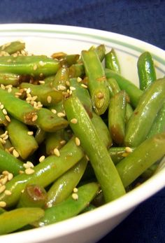 Wok or Skillet Asian-Style Fresh Green Beans