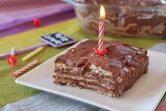 Tarta de la abuela de galletas, natillas y chocolate (sin lactosa) | Cocinar en casa es facilisimo.com