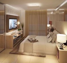 This is a Bedroom Interior Design Ideas. House is a private bedroom and is usually hidden from our guests. Much of our bedroom … Home Bedroom, Master Bedroom, Bedroom Decor, Taupe Bedroom, Bedroom Ideas, Bedroom Colors, Bedroom Designs, Master Suite, Suites