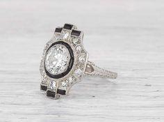 1.22 Carat Art Deco Engagement Ring