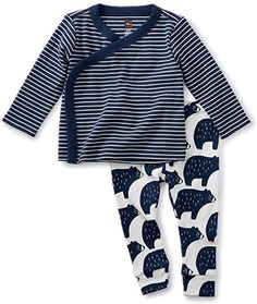 10f38af9eede Amazon.com  Tea Collection Wrap Top Baby Outfit