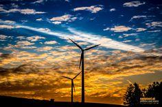 Wind Energy Sunrise by Reinhard Loher on Wind Turbine, Sunrise, Nature, Sunrises, Sunrise Photography