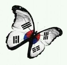 But thanks to Master.I have a ❤️ for Korea too! Taekwondo Tattoo, Ata Taekwondo, Tang Soo Do, Hapkido, Tae Kwon Do, Seoul, Korea Country, Korea Tattoo, Butterfly