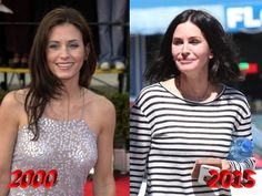 Courteney Cox Before And After Plastic Surgery Photos