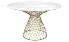 Dakota Marble Table - Gold- He wants round, I want long..but this is a cool round table