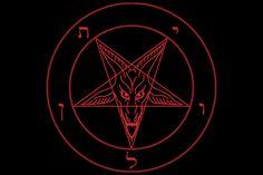 Head of Baphomet (goat head of satan) inside the pentagram. Baphomet, Pentacle, Black Art, Black Metal, Red Black, Wiccan, Magick, Wicca Witchcraft, Laveyan Satanism
