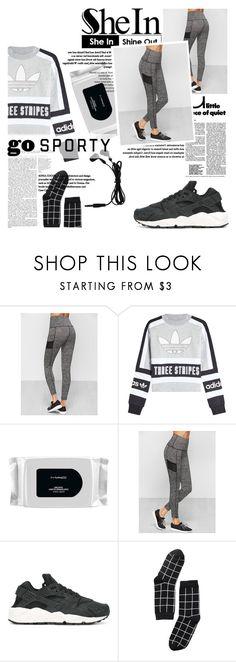 """№"" by sophiateresa ❤ liked on Polyvore featuring adidas Originals, MAC Cosmetics, NIKE, Monki, sport, leggins and shein"